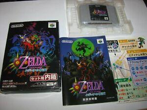 Legend of Zelda Majora's Mask Nintendo 64 N64 Japan Boxed Complete US Seller C1