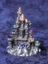 Pewter Castle with Many Colorful Crystals