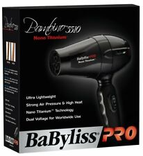 BABNT5510 BaBylissPRO Nano Bambino Compact Dryer Black Travel Size Dual Voltage