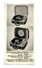 1950 / Publicité pour le Tourne disque Tepaz / Musique / LD86