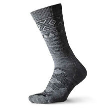3 pr Size Medium THORLO Grey / Black Outdoor Traveler Lambs Wool Socks otxu11