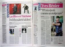 FRANCE-SOIR  2011: YVES RENIER_HUBERT FELIX THIEFAINE_BERNARD LAVILLIERS