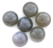 ONE 14mm Round Gray Moonstone Cab Cabochon Gem Stone Gemstone Natural EBS229OTH