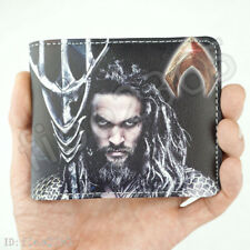 DC Superhero Aquaman Wallet Justice League Short Bifold Card Holder Purse Gifts