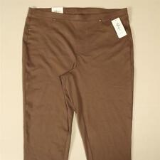 LP113 Style&co Women Plus Brown Mid Rise Pull On Capri Leggings NWT Size 1X x 22