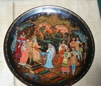 Bradford Exchange Russian Snow Maiden Plate porcelain Judgment Of Tsar Berendey