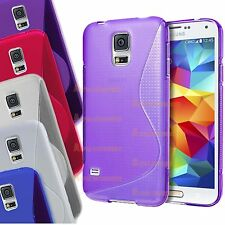 S Line WAVE Grip Custodia cover sottile in gel per Samsung Galaxy S5 I9600,