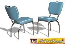 co-26 Azul Bel Air Muebles 2 SILLAS RESTAURANTE de cocina en estilo 50er AÑOS