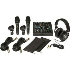 Mackie Performer Bundle 6-Channel Mixer-2 Dynamic Vocal Mics & Headphones