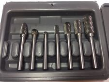 "Astro Pneumatic 2181 7pc 1/4"" Shank Carbide Rotary Burr Set New"