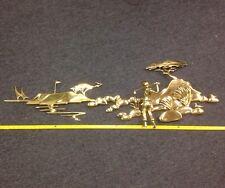 "Bijan metal wall 3D Art sculpture Pebble Beach Golfer midcentury jere era 48"""