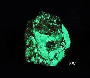 Zincite With a Bright Green Willemite/ Calcite / Franklinite  - Sterling, NJ