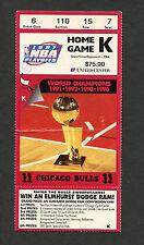 1997 NBA Championship Finals ticket stub Chicago Bulls Utah Jazz Michael Jordan