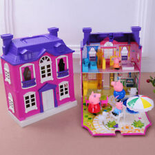 Peppa Pig Purple house Villa with 4pcs figures Girls Kids Xmas Gift
