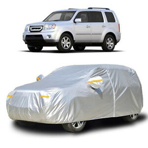 XL Full Car Cover Waterproof Scratch Snow Protection W/Zipper For Honda Pilot