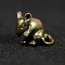 Rat Mouse Miniature Figurine Statue brass Lucky Animal Amulet Rich Wealth NAH