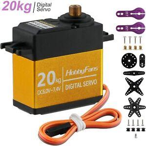 20KG Digital Servo Metallgetriebe Gear Drehmoment wasserdicht mit 25T Servo arm