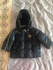 Authentic Armani Baby Boy Puffer Down Coat W/ Detachable Hood In Navy 9 Months