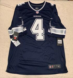 Dallas Cowboys Dak Prescott Blue Replica Jersey Nike Brand New With Tag Sz L NFL