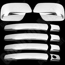 For Nissan Rogue 2008-2013 Chrome Cover Set 4 Door Handles & Full Mirror Covers