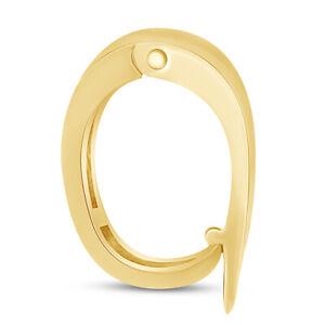 Pendant Enhancer Bail Slide For Pearls, Omega In 14 K Yellow Gold