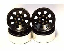 Axial 12mm SCX10 Black Steel 1.9 Beadlock 6-Lug Wheels Hot Racing BLW19SS01