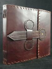 GOTHIC Handmade Leather Sketchbook Journal  - Cartridge Paper - Leather Tab-Lock