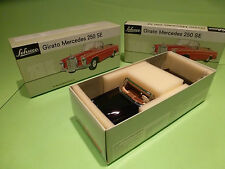 SCHUCO 4000 MERCEDES BENZ 250 SE GIRATO CABRIOLET - BLACK  1:20 - NMIB