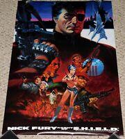 NICK FURY Agent Of Shield STERANKO Art 1988 Marvel Comics Poster Avengers