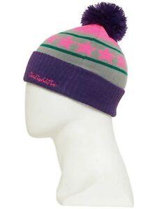 NWT 686 Girls Star Pom Beanie Hat Snowboard Kids Youth OS Lt Grey sa264