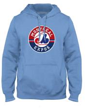 Мужские Монреаль икспос порошок голубой первичной 1992 логотип Экспресс с капюшоном бейсбол, главная лига