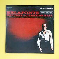 HARRY BELAFONTE Returns To Carnegie Hall LSO60072 Dbl LP Vinyl VG+ GF RCA Victor