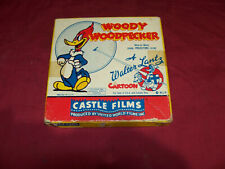 Old 8mm Woody Woodpecker Reckless Driver Cartoon Walter Lantz Castle Films 16mm