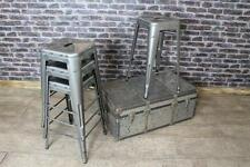 INDUSTRIAL VINTAGE TOLIX STYLE LOW BAR STOOLS GUNMETAL STACKING STOOL