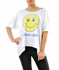 Wildfox Women's IDC Overland Tunic T-Shirts White Size S RRP £59 BCF69