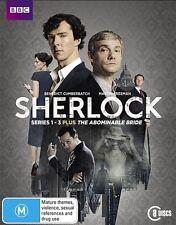 The Sherlock / Sherlock Holmes - Abominable Bride : Series 1-3 (Blu-ray, 2016, 8-Disc Set)