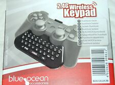 Blue Ocean 2.4g TASTIERINO Wireless per ps3 CHATPAD TASTIERA CON DONGLE USB