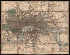 """""""Cary's New Plan of London and its Vicinity"""", by J & G Cary. 67x85cm 1825 map"""