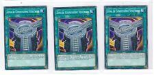 Yu-Gi-Oh 3x Zona di Connessione Vehicroid  LEDU-IT035 Comune ITA
