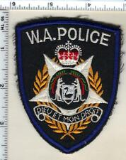 Western Australia Police Uniform Take-Off Shoulder Patch from the Early 1980's
