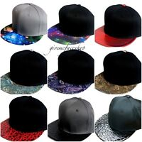 Mens, Ladies snapback caps, exclusive baseball flat peak galaxy, paisley hats