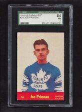 1955 Parkhurst #24 Joe Primeau HOF, SGC 84 NM 7, Vintage Maple Leafs 1955-56