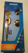 Schlage F60 V PLY 609 PLY Handle Set  Antique brass