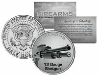12 GAUGE SHOTGUN Firearm JFK Kennedy Half Dollar US Colorized Coin