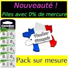 Piles/battery Bouton Camelion Alcaline Ag12 1.5v Expédition rapide gratuite Ag10 2 Piles