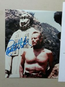 """CHARLTON HESTON signed 10""""x8"""" PHOTO with UACC RD C.O.A. POTA planet of the apes"""