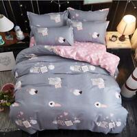 3D Grey Pig Wings ZHUA3716 Bed Pillowcases Quilt Duvet Cover Set Queen King Zoe