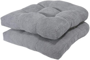 Arlee Chair Cushion Pillows Set Of 2 Seat Pads Kitchen Dining Room Non-Skid 16
