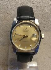 Super Seville Gold Face, Bezel & Crown Stainless Day Date Automatic Serviced