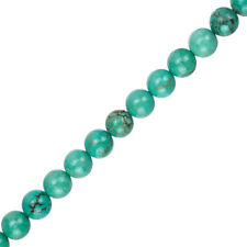 "Blue Turquoise Round Gemstone Beads 8mm 15.5"" Strand (C59/3)"
